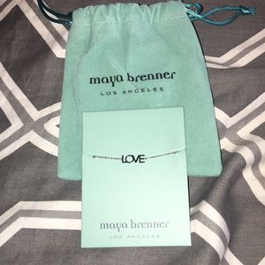 Maya Brenner Silver Love Bracelet